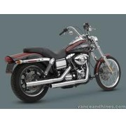 Vance & Hines exhaust straightshot slip-ons 91-16 Dyna (exclude 08-16 FXDF