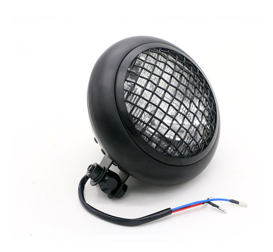 headlight 5 1/2 complete bates black