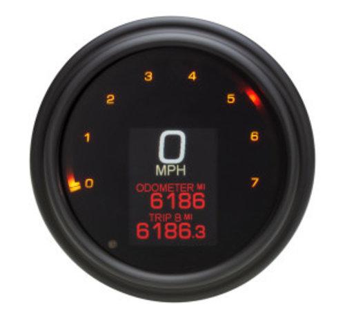 Koso Indicateur de vitesse / tachymètre pour 04-13 FLHR, 04-10 SOFTAIL, 04-11 DYNA GLIDE
