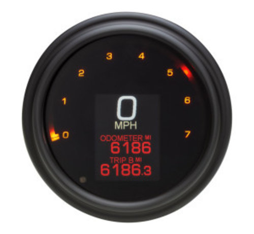 Koso Velocímetro / tacómetro para 04-13 FLHR, 04-10 SOFTAIL, 04-11 DYNA GLIDE