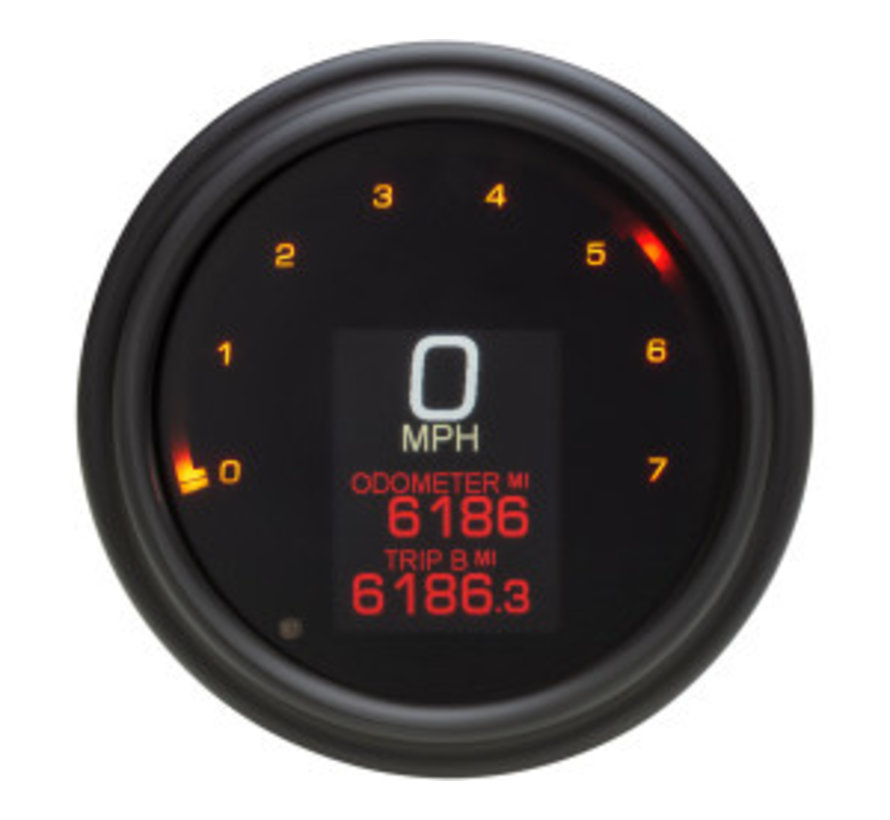 Speedometer/Tachometer fits 04-13 FLHR, 04-10 SOFTAIL, 04-11 DYNA GLIDE