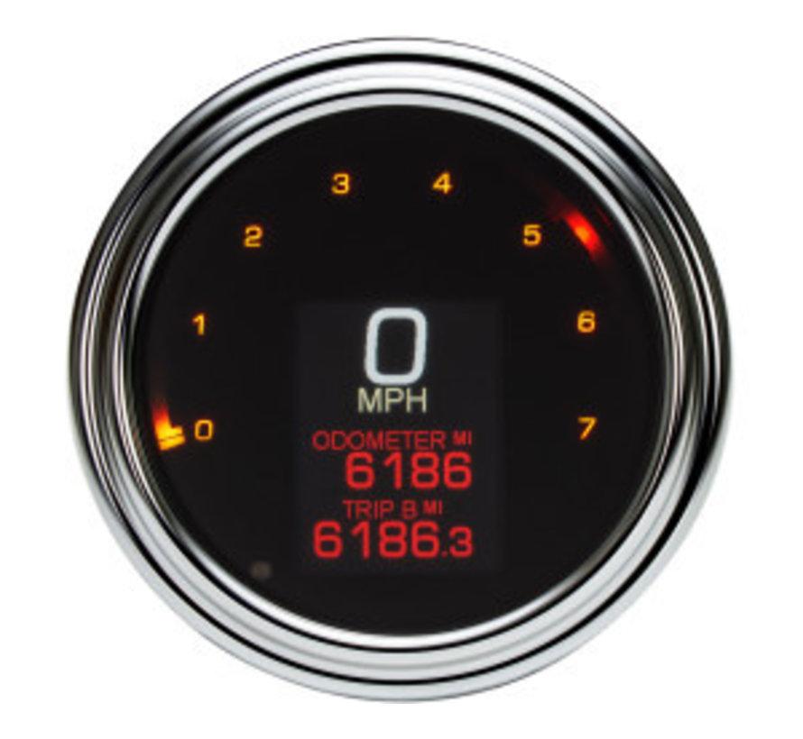 Indicateur de vitesse / tachymètre pour 04-13 FLHR, 04-10 SOFTAIL, 04-11 DYNA GLIDE