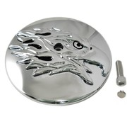 Wyatt Gatling air cleaner Round Eagle Cover Fits: > 2000-2015 Softail, 1999-2007 Dyna and 1999-2013 Touring