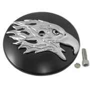 Wyatt Gatling air cleaner Round Eagle Cover - Black