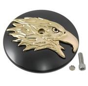 Wyatt Gatling Luftfilter Round Eagle Cover Schwarz-Gold Passend für: FLST 2000-2017, FXD 1999-2007, FXST 2000-2017, FLT 1999-2013