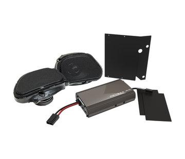 Hogtunes Harley Audio Lautsprecher Kit REV225; 98-13 FLTR