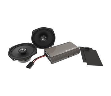 Hogtunes Kit de altavoces amplificados Hogtunes Harley audio Rev Series para 99‐13 FLHT / FLHX
