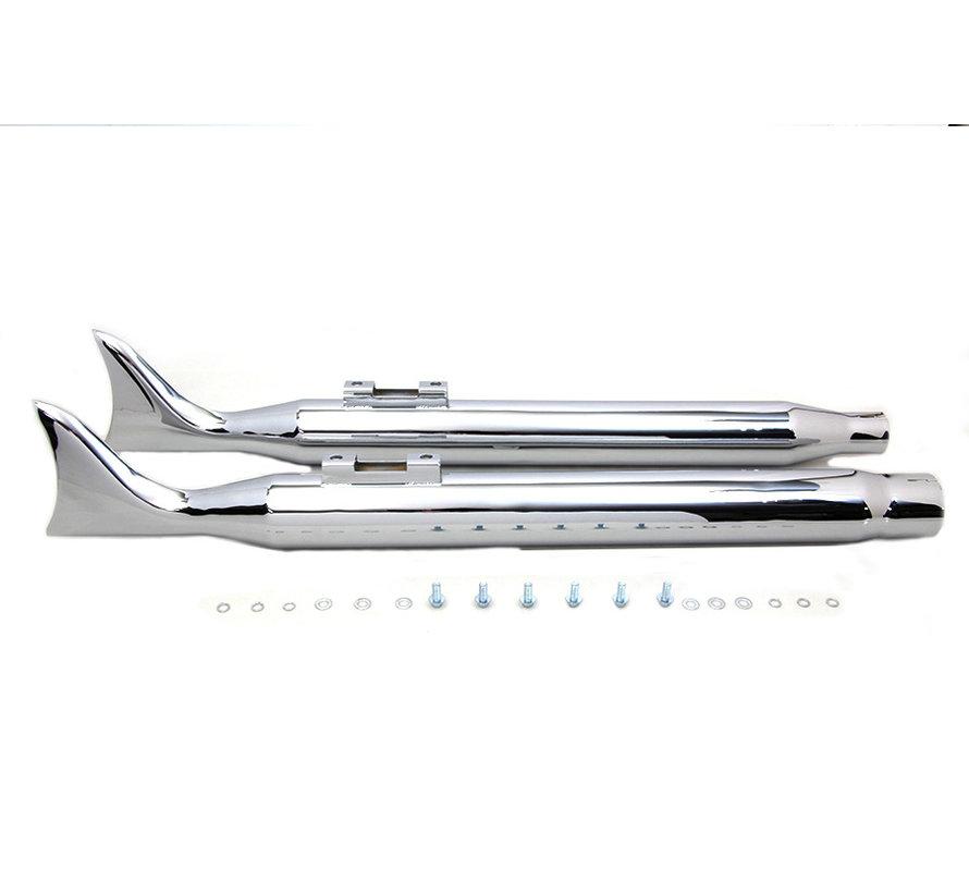 Harley Davidson M8 Chrome Fishtail Silencieux Set