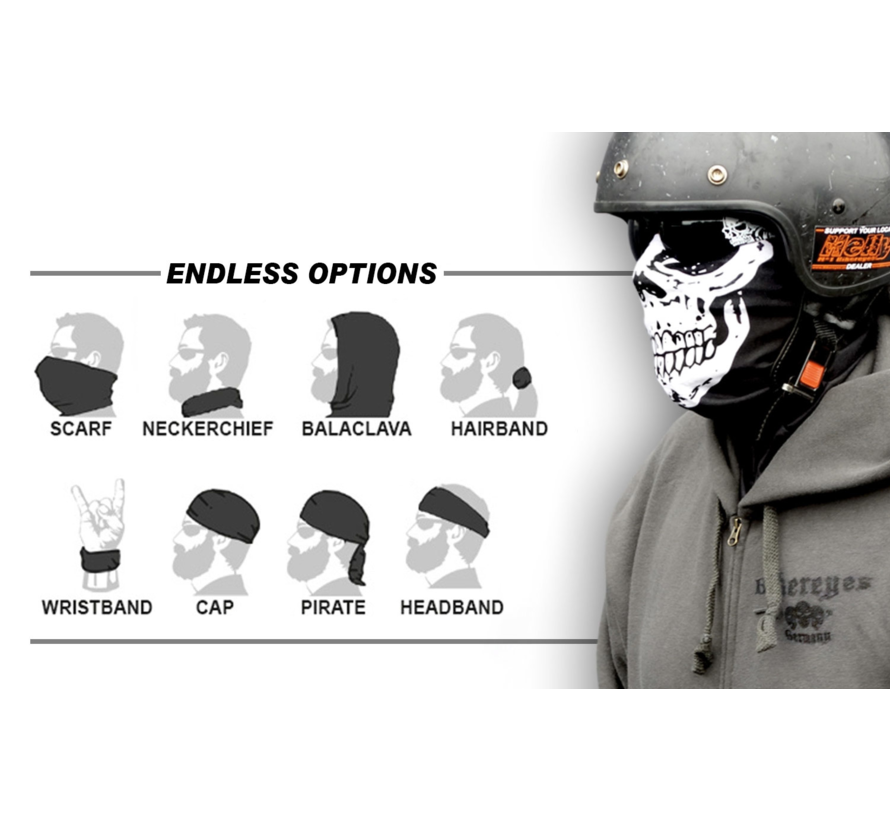 Biker lifestyle Bandana - Multifunctionele sjaalschedel