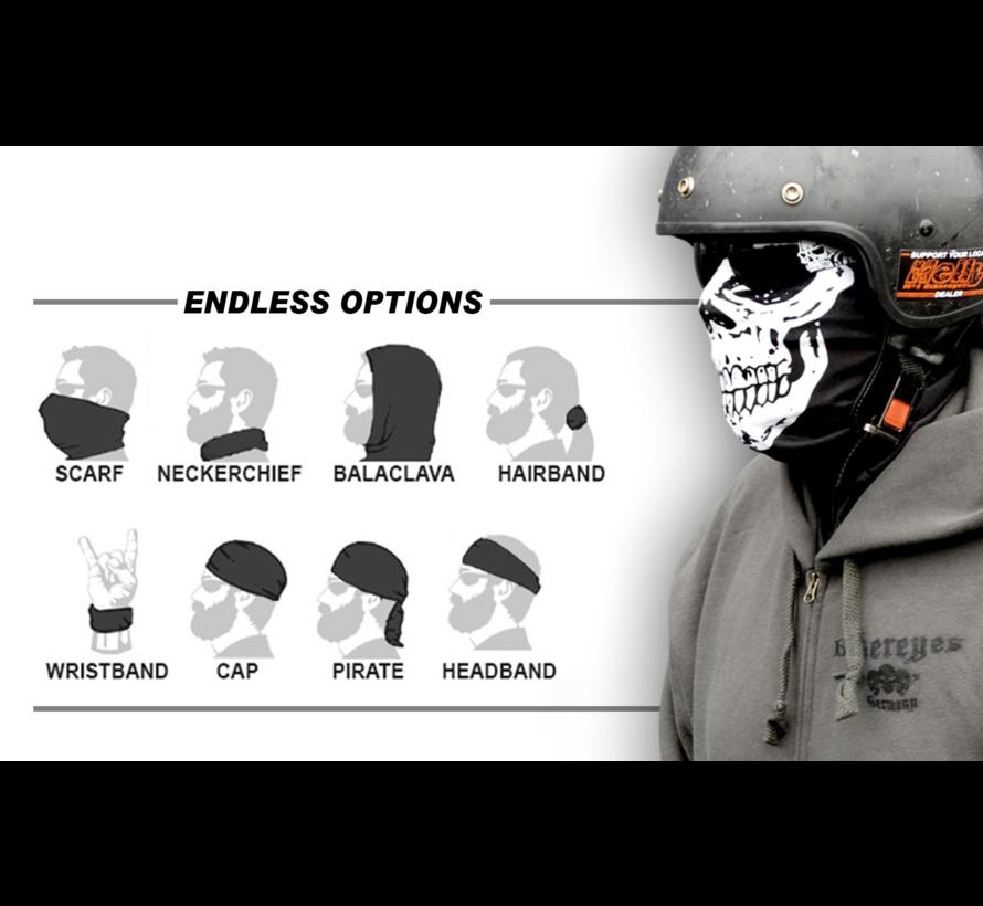 Biker lifestyle Bandana - Multifunctionele sjaal 1000 schedels