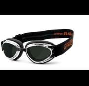 Helly Bril zonnebril Bikereyes hurricane 2 chroom