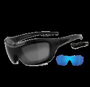 Helly Biker zonnebril bandit - smoke grandient laser Past op:> alle Bikers