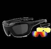 Helly Gafas de sol biker bandit 2 - humo, láser rojo y xenolit®