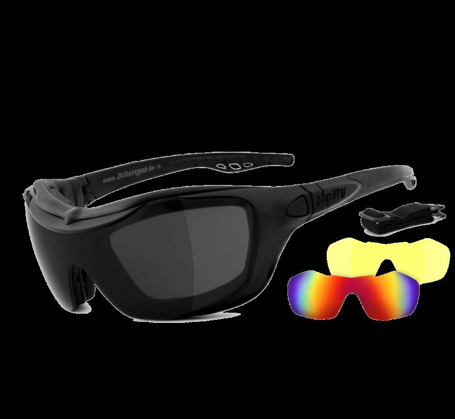 Biker zonnebril bandit 2 - smoke, laser red & xenolit®