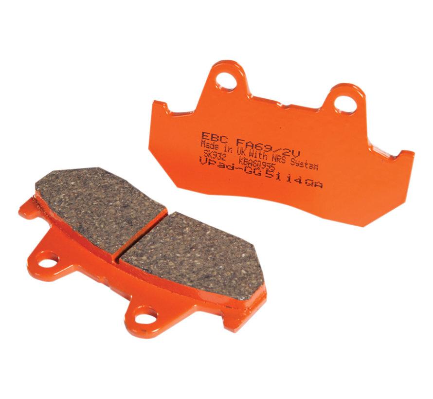 "Semi sintered Base ""FA69/2"" Brake Pads front"