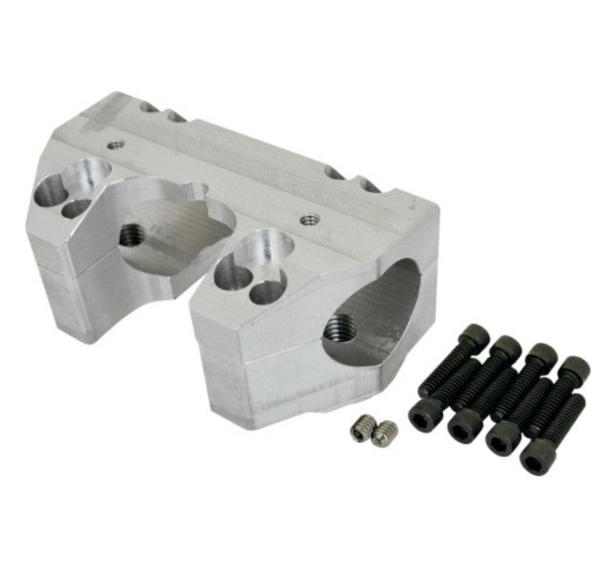 Handlebar Clamp Set for 08‐13 FLHR models