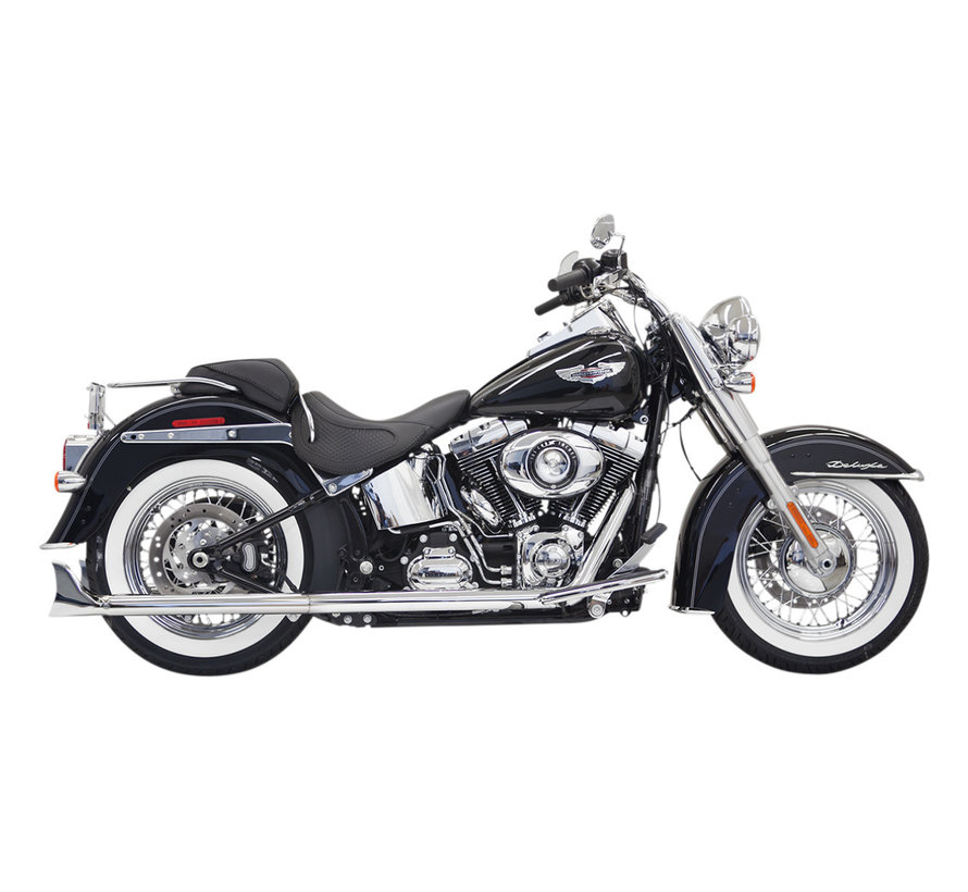 """True duals 30"""" long 2-1/4"""" Fishtail mufflers (with baffle)  07-17 Softails"""