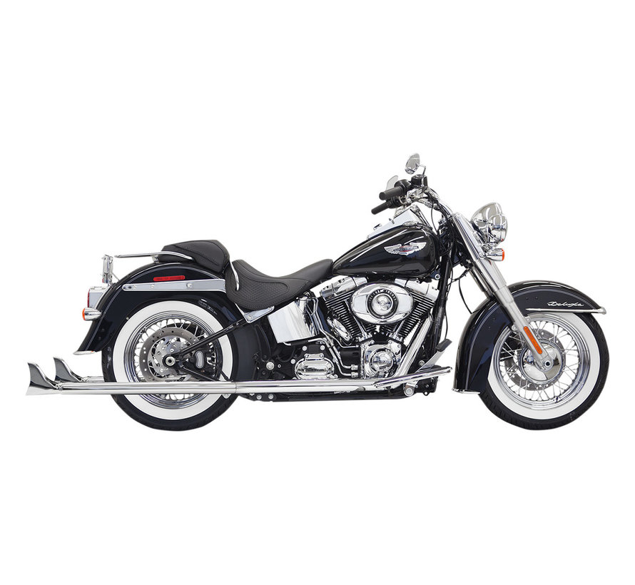 """True duals 36"""" long 2-1/4"""" Fishtail mufflers (with baffle)  07-17 Softails"""