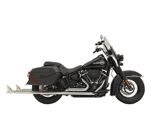"Bassani True duals 36"" long 2-1/4"" Fishtail mufflers black or chrome  2018-up  - Copy"