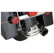 fender rear rail Black or Chrome - 80-08 FLT FLH