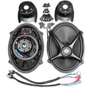 J&M Audio Kits de haut-parleurs Rokker, Convient pour:> Couvercles de sacoche de flèche sur les modèles 06-18 FLHT / FLHX / FLTR