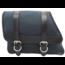 Bolso Saddle de lona para el lado izquierdo - Negro con detalles en cuero negro