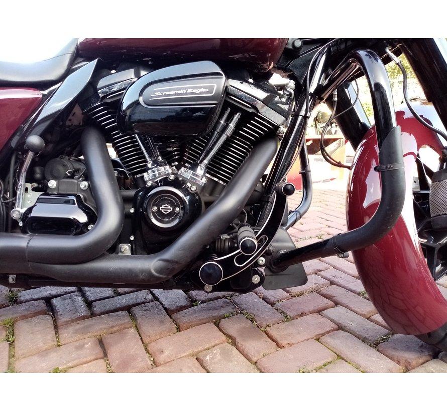 Harley Davidson Forward Controls gleuf voor touring 2014-up zwart of gepolijst
