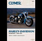 Clymer Harley Davidson boekt Clymer service manual - Panhead Series 48-65 reparatiehandleidingen