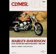 Clymer Harley Davidson boekt Clymer service manual - Softail Series 84-99 reparatiehandleidingen
