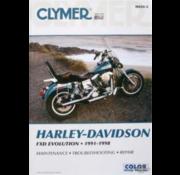 Clymer Harley Davidson boekt Clymer service manual - Dyna Series 91-98 reparatiehandleidingen
