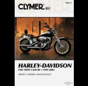 Clymer Harley Davidson boekt Clymer service manual - Dyna Series 99-05 reparatiehandleidingen