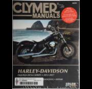 Clymer Harley Davidson boekt Clymer service manual - Dyna Series 12-17 reparatiehandleidingen