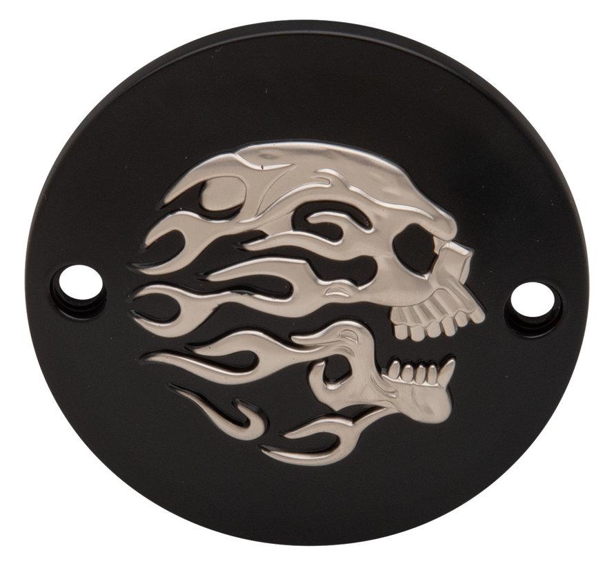 Harley Davidson Flaming Skull Point Cover Passend für:> XL 2004-UP