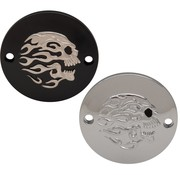 Drag Specialities Flaming Skull Point Cover Passend für:> XL 2004-UP