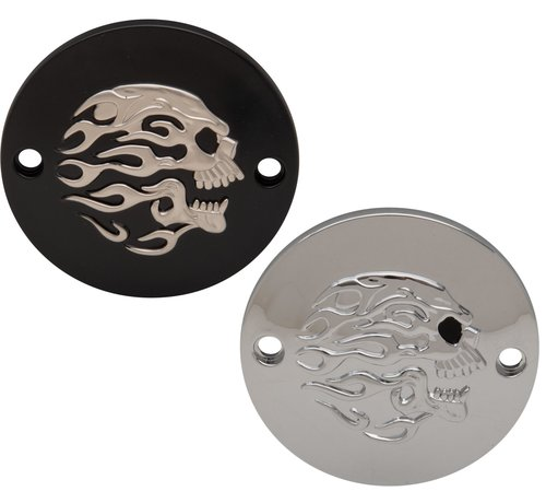Drag Specialities Harley Davidson Flaming Skull Point Cover Passend für:> XL 2004-UP