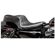 Le Pera seat Cherokee 2-up diamond 04-06 and 10-20 Sportster XL with 3.3 Gallon Tank