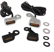 Drag Specialities LED Handlebar black or chrome with amber turn signals : fits: 04-20 XL Sportster models