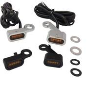Drag Specialities LED Stuur zwart of chroom met oranje knipperlichten: passend voor: 04-20 XL Sportster modellen