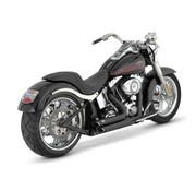 Vance & Hines exhaust staggered short shots black or Chrome: Fits:> 87-11 Softail (exclude. SE CVO & Rockers )