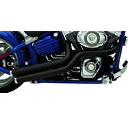 Supertrapp Auspuff 2-in-2 bedeutet mütterliche Seitenwischbewegungen. Entwickelt für Rocker-Modelle, kann aber auch für die meisten Softail-Modelle und Custom Builts verwendet werden.