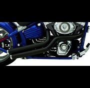 Supertrapp uitlaat 2-in-2 gemiddelde moeders zijvegen Ontworpen voor Rocker-modellen, maar kan ook worden gebruikt op de meeste Softail-modellen en Custom Builts.