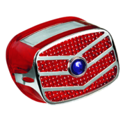 TC-Choppers Taillight lens and grill kit with blue dot fits all models from 1973 thru 1999