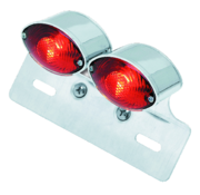TC-Choppers taillight cat eye dual mini with license bracket universal