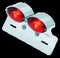 Harley Davidson achterlicht cat eye dual mini met kenteken houder universeel