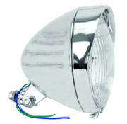 headlight Chrome Springer style late model with grooves and visor