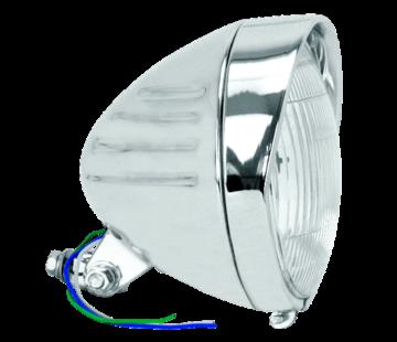 TC-Choppers koplamp Chroom Springer stijl laat model met groeven en vizier