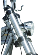 TC-Choppers Scheinwerfer 3 1/2 Zoll Bodenhalterung