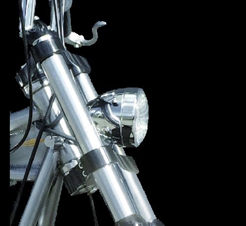 TC-Choppers Harley Davidson Scheinwerfer 3 1/2 Zoll Bodenhalterung