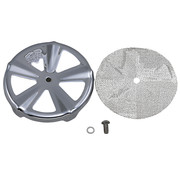 Vance & Hines air cleaner Insert Skullcap Crown VO2 - Chrome