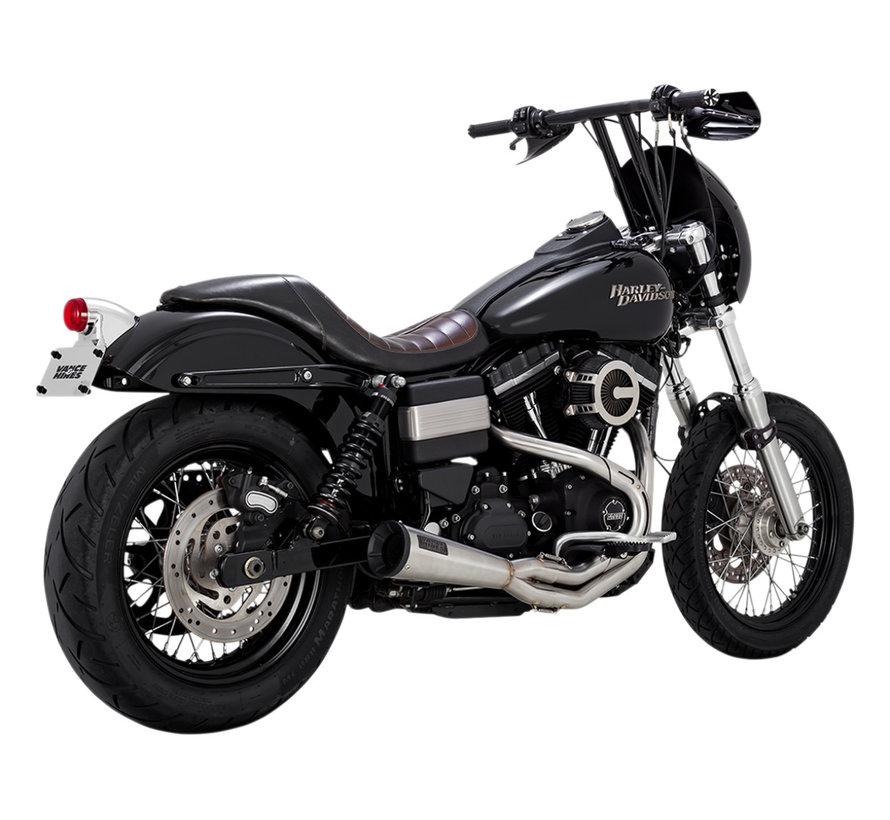Harley Davidson Vance und Hines Auspuff rostfrei 2-1 Upsweep Passend für:> 91-17 Dyna